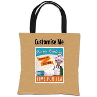 "Personalised Wallace And Gromit ""Put The Kettle On"" Tote Bag"