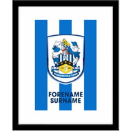 Personalised Huddersfield Town AFC Bold Crest Framed Print