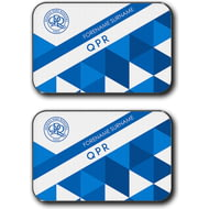 Personalised Queens Park Rangers FC Patterned Rear Car Mats