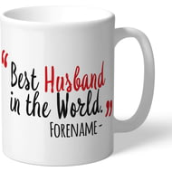 Personalised Southampton Best Husband In The World Mug