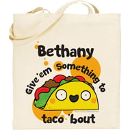 Personalised Taco Tote Bag