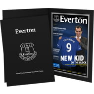 Personalised Everton FC Magazine Front Cover Photo Folder