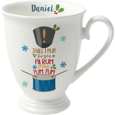 Personalised Little Drummer Boy Marquee Ceramic Mug