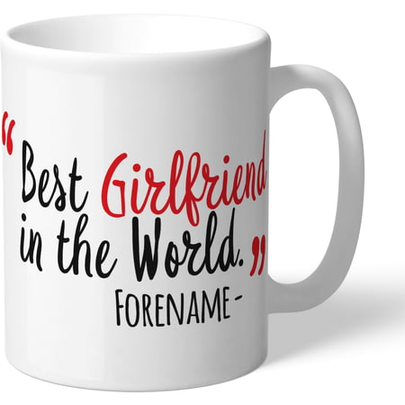 Personalised Liverpool FC Best Girlfriend In The World Mug