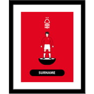 Personalised Nottingham Forest FC Player Figure Framed Print