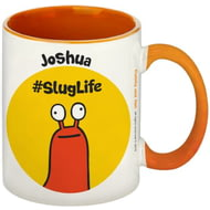 Personalised #SlugLife Orange Inside Mug