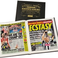 Personalised West Bromwich Albion Historic Football Newspaper Book - Leather Cover