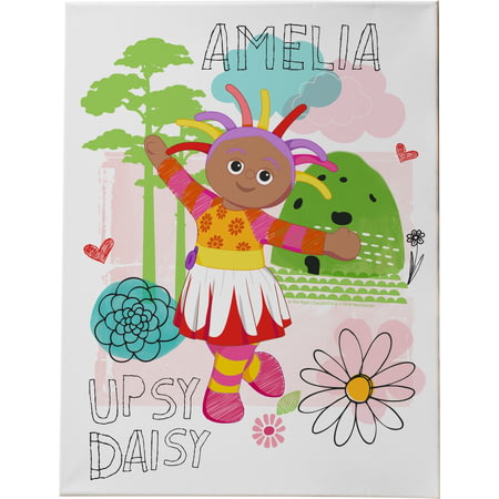 Personalised Upsy Daisy Canvas Print