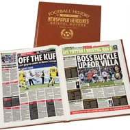 Personalised Bristol Rovers Football Newspaper Book - Leatherette Cover