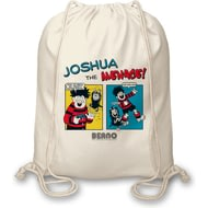 Personalised Beano Classic Comic Strip Water Pistol Drawstring Bag