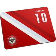 Personalised Brentford Stripe Mouse Mat