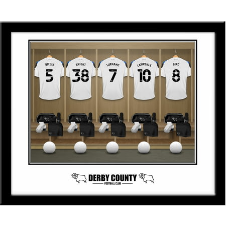 Personalised Derby County Dressing Room Framed Print