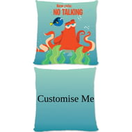 Personalised Disney Finding Dory Hank 'New Rule, No Talking' Cushion - 45x45cm