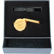 Personalised Engraved Stainless Steel Gold Whistle