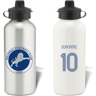 Personalised Millwall FC Retro Shirt Aluminium Sports Water Bottle