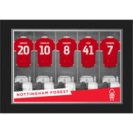 Personalised Nottingham Forest FC 9x6 Dressing Room Photo Folder