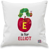 Personalised Very Hungry Caterpillar Initial Caterpillar Cushion