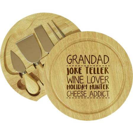 Personalised 4 Things About… Wooden Cheeseboard With Knives