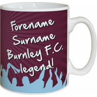 Personalised Burnley FC Legend Mug