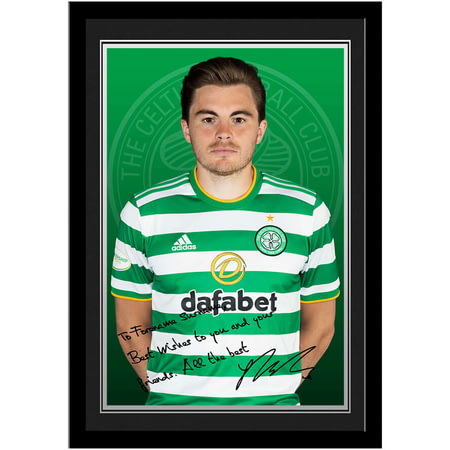Personalised Celtic FC Forrest Autograph Photo Framed