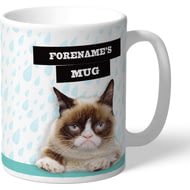 Personalised Grumpy Cat - Grumpy Is My Job Rain Mug