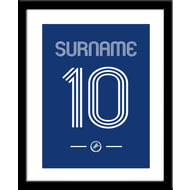 Personalised Millwall FC Retro Shirt Framed Print