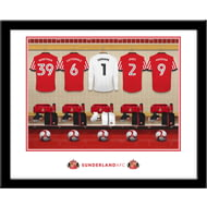Personalised Sunderland AFC Goalkeeper Dressing Room Framed Print