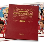 Personalised Manchester United Newspaper History Book - Leather Cover