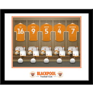 Personalised Blackpool FC Dressing Room Shirts Framed Print