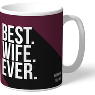 Personalised Burnley Best Wife Ever Mug