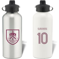Personalised Burnley FC Retro Shirt Aluminium Sports Water Bottle