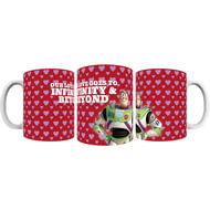 "Personalised Toy Story Buzz Valentines ""Infinity & Beyond"" Ceramic Mug"