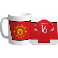 Personalised Manchester United FC Shirt Mug & Coaster Set