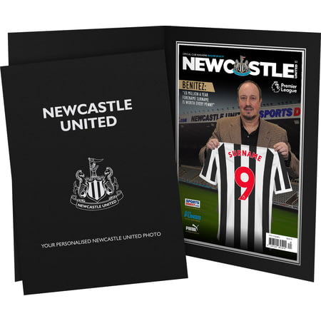 Personalised Newcastle United FC Magazine Front Cover Photo Folder