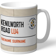 Personalised Luton Town FC Kenilworth Road Street Sign Mug