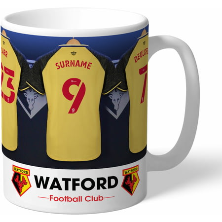 Personalised Watford FC Dressing Room Shirts Mug
