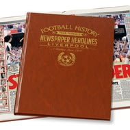 Personalised Liverpool Football Newspaper Book - A3 Leatherette Cover