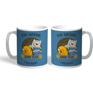 Personalised Adventure Time Stay Awesome Mug