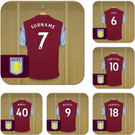 Personalised Aston Villa FC Dressing Room Shirts Coasters Set of 6