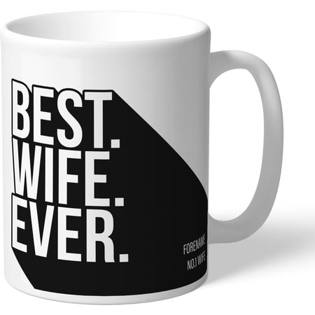 Personalised Derby County Best Wife Ever Mug