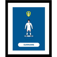 Personalised Leeds United FC Player Figure Print