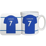 Personalised Leicester City FC Shirt Mug & Coaster Set