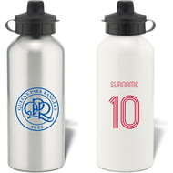 Personalised Queens Park Rangers FC Retro Shirt Aluminium Sports Water Bottle