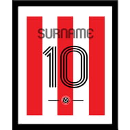 Personalised Sheffield United FC Retro Shirt Framed Print