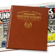 Personalised Spurs V Arsenal Derby Football Newspaper Book - Leatherette Cover