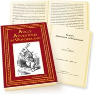 Personalised Lewis Carroll - Alice's Adventures In Wonderland Novel