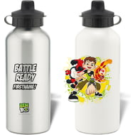 Personalised Ben 10 Battle Ready Water Bottle