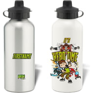 Personalised Ben 10 Hero Time Badge Water Bottle