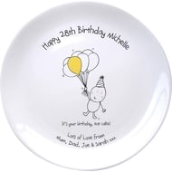 Personalised Chilli & Bubble's Birthday Ceramic Plate