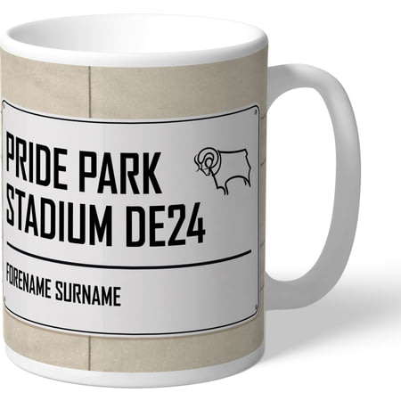 Personalised Derby County Street Sign Mug